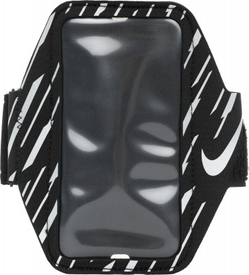 Чехол на руку для смартфона Nike SmartphoneЧехол nike, совместимый с iphone, позволит разместить смартфон на руке так, чтобы он не мешал во время бега.<br>Пол: Мужской; Возраст: Взрослые; Вид спорта: Бег; Производитель: Nike ABM; Артикул производителя: N.RN.70-037; Страна производства: Китай; Материал верха: 38 % неопрен, 25 % полиэстер,13 % нейлон,13 % алюминий,11 % ТПУ; Размер RU: Без размера;