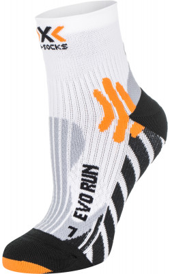 Носки X-Socks, 1 параТонкие технологичные носки x-socks - оптимальный выбор для всех поклонников бега. Носки выполнены из шерсти австралийских овец меринос и отлично греют.<br>Пол: Мужской; Возраст: Взрослые; Вид спорта: Бег; Плоские швы: Да; Дополнительная вентиляция: Да; Производитель: X-Socks; Артикул производителя: X020300-W030; Страна производства: Италия; Материалы: 52 % полиэстер, 45 % нейлон, 3 % эластан; Размер RU: 35-38;