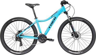 Велосипед горный женский Trek SKYE SL WSDОтличная модель с запатентованной гоночной геометрией g2 придется по душе продвинутым велосипедисткам. Предусмотрена возможность установки багажника.<br>Материал рамы: Алюминий; Размер рамы: 17; Амортизация: Hard tail; Конструкция рулевой колонки: Полуинтегрированная; Конструкция вилки: Витая пружина; Ход вилки: 100 мм; Регулировка жесткости вилки: Есть; Блокировка вилки: Есть; Количество скоростей: 24; Наименование переднего переключателя: Shimano Tourney TY700; Наименование заднего переключателя: Shimano Tourney TX80; Конструкция педалей: Классические; Наименование манеток: Shimano Altus M310; Конструкция манеток: Триггерные двурычажные; Тип переднего тормоза: Дисковый гидравлический; Тип заднего тормоза: Дисковый гидравлический; Возможность крепления дискового тормоза: Рама, вилка, втулки; Диаметр колеса: 29; Тип обода: Двойной; Материал обода: Алюминиевый сплав; Наименование покрышек: Bontrager XR2, 29x2,20 передняя, 29x2,00 задняя; Конструкция руля: Изогнутый; Регулировка руля: Есть; Регулировка седла: Есть; Сезон: 2017; Максимальный вес пользователя: 136 кг; Вид спорта: Велоспорт; Технологии: Alpha Gold; Производитель: Trek; Артикул производителя: TR5343; Срок гарантии: 1 год; Страна производства: Китай; Размер RU: 17;
