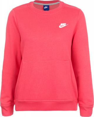 Джемпер женский Nike Sportswear CrewУдобный и мягкий женский джемпер от nike дополнит ваш спортивный гардероб. Практичность спереди расположен карман-кенгуру.<br>Пол: Женский; Возраст: Взрослые; Вид спорта: Спортивный стиль; Капюшон: Отсутствует; Количество карманов: 1; Застежка: Отсутствует; Производитель: Nike; Артикул производителя: 853926-608; Страна производства: Пакистан; Материал верха: 52 % хлопок, 28 % район, 20 % полиэстер; Размер RU: 42-44;