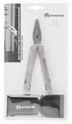 Набор инструментов OutventureУниверсальный многофункциональный инструмент из нержавеющей стали. Поставляется в чехле.<br>Пол: Мужской; Возраст: Взрослые; Вид спорта: Кемпинг, Походы; Состав: инструмент: 100% нержавеющая сталь / чехол: 100% нейлон; Размеры (дл х шир х выс), см: 10 х 4 х 2; Вес, кг: 0,2; Производитель: Outventure; Артикул производителя: IE622202; Срок гарантии: 2 года; Страна производства: Китай; Размер RU: Без размера;