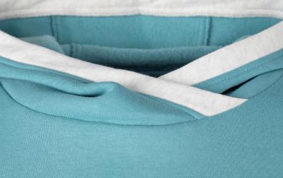 Фото 4 - Худи для девочек Kappa, размер 128 синего цвета