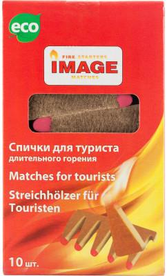 Спички для туриста ImageСпички незаменимы для розжига костра, мангала, растопок, открытого огня на пикнике. 10 спичек в коробке.<br>Состав: 80 % древесноволокнистая плита, 16 % парафин, 4 % зажигательный состав; Вид спорта: Кемпинг, Походы; Производитель: Image; Артикул производителя: 4607113340137; Страна производства: Россия; Размер RU: Без размера;