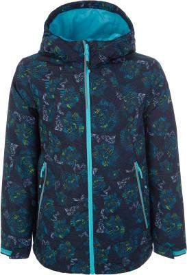 Куртка для девочек Outventure, размер 140Куртки <br>Детская куртка для походов и активного отдыха на природе от outventure. Защита от влаги ткань со специальной водоотталкивающей обработкой add dry water resistant.