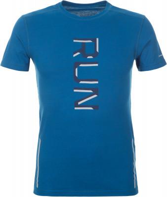 Футболка мужская Demix, размер 54Мужская одежда<br>Мужская футболка для бега от demix. Отведение влаги ткань с технологией movi-tex эффективно отводит влагу от кожи. Комфорт плоские швы не натирают кожу.