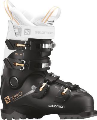 Ботинки горнолыжные женские Salomon X PRO 90, размер 39,5Ботинки<br>Базовая модель горнолыжных ботинок salomon x pro 90w для продвинутых лыжниц.