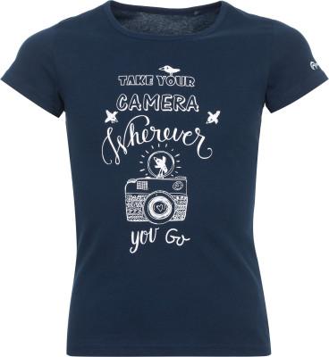 Футболка для девочек OutventureУдобная футболка для девочек от outventure станет отличным выбором для прогулок и путешествий. Натуральные материалы ткань полностью выполнена из натурального хлопка.<br>Пол: Женский; Возраст: Дети; Вид спорта: Путешествие; Длина по спинке: 48 см; Защита от УФ: Нет; Покрой: Прямой; Плоские швы: Нет; Светоотражающие элементы: Нет; Дополнительная вентиляция: Нет; Производитель: Outventure; Артикул производителя: UTSG11Z414; Страна производства: Узбекистан; Материалы: 100 % хлопок; Размер RU: 146;