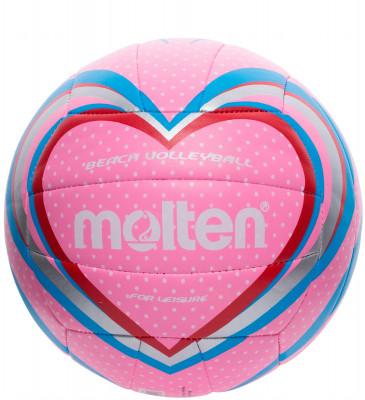 Мяч волейбольный MoltenМяч для пляжного волейбола из тонкой синтетической кожи, обеспечивающей мягкий контакт с рукой. Машинное шитье.<br>Сезон: 2015; Возраст: Взрослые; Вид спорта: Волейбол; Тип поверхности: Для пляжа; Назначение: Любительские; Материал покрышки: Синтетическая кожа; Материал камеры: Резина; Способ соединения панелей: Машинная сшивка; Количество панелей: 16; Вес, кг: 0,28; Производитель: Molten; Артикул производителя: V5B1501-P; Срок гарантии: 2 года; Страна производства: Китай; Размер RU: 5;