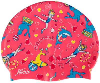 Шапочка для плавания для девочек JossСиликоновая детская шапочка выполнена из высококачественного силикона с ярким рисунком обладает высокой степенью эластичности, водонепроницаемостью, а также износостойкостью<br>Пол: Женский; Возраст: Дети; Вид спорта: Плавание; Назначение: Универсальные; Материалы: 100 % силикон; Производитель: Joss; Артикул производителя: YJ4103K10; Страна производства: Китай; Размер RU: Без размера;