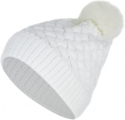 Шапка женская GlissadeВязаная шапка с помпоном из искусственного меха. Модель утеплена флисовой подкладкой, идеально подойдет для активного отдыха в холодное время года.<br>Пол: Женский; Возраст: Взрослые; Вид спорта: Горные лыжи; Производитель: Glissade; Артикул производителя: AGSHAW0200; Страна производства: Россия; Материал верха: 87 % акрил, 13 % полиамид; помпон: 100 % полиэстер; Материал подкладки: 100 % полиэстер; Размер RU: Без размера;