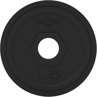 Блин стальной обрезиненный RZR 1,25 кг