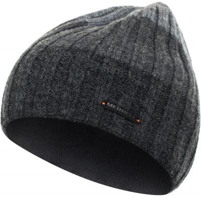 Шапка мужская MerrellГоловные уборы<br>Т плая мужская вязаная шапка с добавлением шерсти от merrell. В шапке предусмотрена флисовая подкладка. Модель отлично подойд т для активного отдыха в холодное время года.
