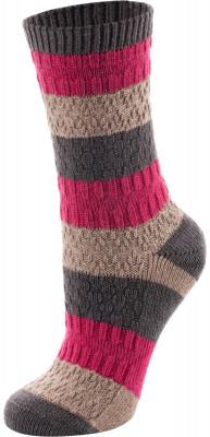 Носки женские Outventure, 1 параУниверсальные носки оригинальной расцветки из качественного материала, хорошо сохраняющего тепло, незаменимы в зимнем гардеробе.<br>Пол: Женский; Возраст: Взрослые; Вид спорта: Путешествие; Материалы: 33 % шерсть, 29 % акрил, 23 % хлопок, 14 % нейлон, 1 % эластан; Производитель: Outventure; Артикул производителя: JWS401CKS; Страна производства: Пакистан; Размер RU: 35-38;