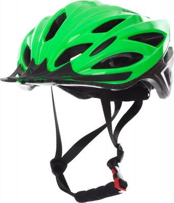 Шлем велосипедный CyclotechВелосипедный шлем с конструкцией glue-on особенности модели: вентиляционные отверстия гарантируют отличную циркуляцию воздуха при любой скорости передвижения; шлем соответст<br>Конструкция: glue-on; Вентиляция: Принудительная; Регулировка размера: Да; Тип регулировки размера: Поворотное кольцо; Материал внешней раковины: ПВХ; Материал внутренней раковины: Вспененный пенополистирол; Материал подкладки: Полиэстер; Сертификация: EN 1078; Вес, кг: 0,24; Пол: Мужской; Возраст: Взрослые; Производитель: Cyclotech; Артикул производителя: CHLO-M-L; Срок гарантии: 6 месяцев; Страна производства: Китай; Размер RU: 58-62;