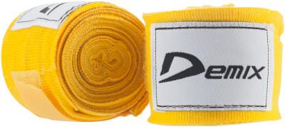 Бинт Demix, 4,5 м, 2 шт.Эластичный бинт используется для защиты рук от травм во время вольного боя и тренировок с грушей. Ткань выполнена по технологии air mesh demix.<br>Материалы: 100% эластик; Тип фиксации: Липучка; Вид спорта: Бокс, ММА; Технологии: Air Mesh Demix; Производитель: Demix; Артикул производителя: DCS-HW45EY; Срок гарантии: 3 месяца; Размер RU: 4,5;