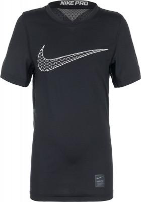 Футболка для мальчиков Nike ProУдобная и функциональная футболка от nike для юных бегунов. Отведение влаги технология dri-fit эффективно отводит влагу от кожи и обеспечивает вентиляцию.<br>Пол: Мужской; Возраст: Дети; Вид спорта: Бег; Покрой: Прямой; Плоские швы: Да; Материалы: 92 % полиэстер, 8 % эластан; Технологии: Nike Dri-FIT; Производитель: Nike; Артикул производителя: 858233-011; Страна производства: Шри-Ланка; Размер RU: 158-170;