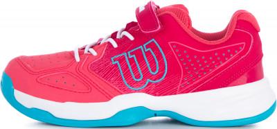 Кроссовки для девочек Wilson Kaos, размер 27Кроссовки <br>Удобные кроссовки kaos kids от wilson - отличный выбор для девочек, которые делают первые шаги на теннисном корте.