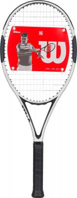 Ракетка для большого тенниса Wilson H6Классическая ракетка wilson с превосходными игровыми характеристиками для широкого круга любителей тенниса. Модель рассчитана на защитный стиль игры.<br>Материал ракетки: Графит, Карбон; Вес (без струны), грамм: 256; Размер головы: 710 кв.см; Баланс: 346 мм; Длина: 27; Струнная формула: 16х20; Стиль игры: Защитный стиль; Технологии: Carbon Fiber Graphite, Hammer; Производитель: Wilson; Артикул производителя: WRT57330U; Срок гарантии: 2 года; Страна производства: Китай; Вид спорта: Теннис; Уровень подготовки: Прогрессирующий; Наличие струны: В комплекте; Наличие чехла: Опционально; Размер RU: 2;