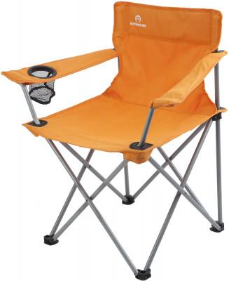 Кресло OutventureУдобное и легкое складное кресло с подлокотниками. Функциональность в одном из подлокотников имеется встроенный подстаканник.<br>Максимальная нагрузка, кг: 100 кг; Размер в рабочем состоянии (дл. х шир. х выс), см: 53 х 45 х 45; Размер в сложенном виде (дл. х шир. х выс), см: 16 х 16 х 85; Материал каркаса: Сталь; Материал сидушки: Полиэстер; Вес, кг: 2,7; Вид спорта: Кемпинг; Производитель: Outventure; Артикул производителя: IE40752; Срок гарантии: 2 года; Страна производства: Россия; Размер RU: Без размера;