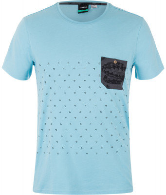 Футболка мужская TermitПрактичная футболка от termit станет превосходным выбором для пляжного отдыха. Практичность в модели предусмотрен нагрудный карман.<br>Пол: Мужской; Возраст: Взрослые; Вид спорта: Surf style; Производитель: Termit; Артикул производителя: S17AT0S0XL; Страна производства: Бангладеш; Материалы: 60 % хлопок, 40 % полиэстер; Размер RU: 52;