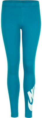 Легинсы для девочек Nike Sportswear Leg-A-SeeЛегинсы для девочек nike sportswear leg-a-see станут отличным выбором для фитнеса. Комфорт мягкая ткань джерси, на 92 % состоящая из натурального хлопка, приятна к телу.<br>Пол: Женский; Возраст: Дети; Вид спорта: Фитнес; Силуэт брюк: Облегающий; Производитель: Nike; Артикул производителя: 851984-467; Страна производства: Вьетнам; Материал верха: 92 % хлопок, 8 % эластан; Размер RU: 152-158;