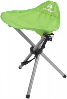Стул OutventureПопулярный складной туристический стул на 3 ножках идеально подойдет для любого вида отдыха на свежем воздухе.<br>Максимальная нагрузка, кг: 100 кг; Размер в рабочем состоянии (дл. х шир. х выс), см: 43 х 34 х 36; Размер в сложенном виде (дл. х шир. х выс), см: 56,5 х 6,5; Материал каркаса: Сталь; Материал сидушки: Полиэстер; Вес, кг: 0,8; Вид спорта: Кемпинг; Производитель: Outventure; Артикул производителя: IE415G2; Срок гарантии: 2 года; Страна производства: Россия; Размер RU: Без размера;