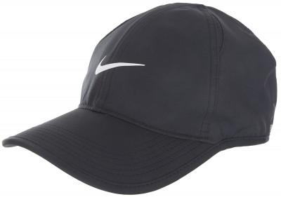 Бейсболка Nike FeatherlightТеннисная бейсболка nike featherlight. Влагоотводящая ткань, выполненная по технологии nike dri-fit, и вставки из сетки обеспечивают комфорт и оптимальный микроклимат.<br>Пол: Мужской; Возраст: Взрослые; Вид спорта: Теннис; Материал верха: 100 % полиэстер; Материал подкладки: 91 % полиэстер, 9 % эластан; Технологии: Dri-FIT; Производитель: Nike; Артикул производителя: 679421-010; Страна производства: Вьетнам; Размер RU: MISC;