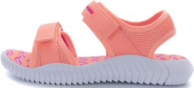 Сандалии для девочек Outventure Freestyle, размер 32Сандалии <br>Сандалии для детей дошкольного возраста подойдут для путешествий и долгих прогулок. Легкость подошва и стелька из эва для максимальной легкости обуви.