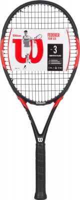 Ракетка для большого тенниса Wilson Federer TourДизайн ракетки federer tour 105 вдохновлен созданием именной ракетки самого роджера федерера.<br>Материал ракетки: Графит, Композитный материал; Вес (без струны), грамм: 261; Размер головы: 677 кв.см; Баланс: 330 мм; Толщина обода: 25,5 мм; Длина: 27; Струнная формула: 16х19; Стиль игры: Агрессивный стиль; Технологии: AireGrip, Carbon Fiber Alloy; Производитель: Wilson; Артикул производителя: WRT57490U; Срок гарантии: 2 года; Страна производства: Китай; Вид спорта: Теннис; Уровень подготовки: Прогрессирующий; Наличие струны: В комплекте; Наличие чехла: Опционально; Размер RU: 3;