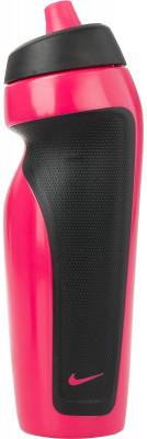 Бутылка для воды Nike Accessories, розоваяБутылка для воды nike объемом 600 мл. Удобно лежит в одной руке и обеспечивает комфорт при использовании во время тренировок.<br>Состав: 59% полиэтилен, 24% термопластик эластомер, 16% полипропилен, 1% силикон; Вид спорта: Фитнес; Производитель: Nike Accessories; Артикул производителя: 9.341.009.623.; Размер RU: 600 мл;