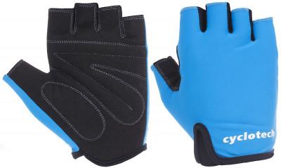 Перчатки велосипедные Cyclotech WindВелосипедные перчатки cyclotech не дают рукам скользить на руле. Особенности модели: гасят неприятные вибрации; комфортная посадка; хорошая вентиляция.<br>Возраст: Взрослые; Пол: Мужской; Размер: 7; Материал верха: 50 % искусственная кожа, 50 % эластан; Материал подкладки: Искусственная кожа; Тип фиксации: Резинка; Производитель: Cyclotech; Артикул производителя: WIND-B-M; Срок гарантии: 6 месяцев; Страна производства: Пакистан; Размер RU: 7;