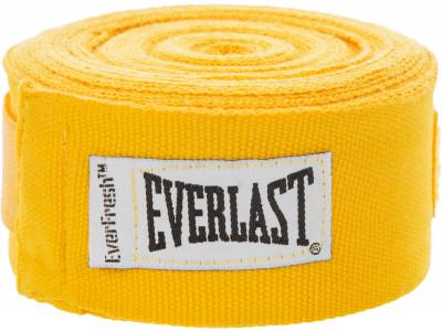 Бинт Everlast, 4,55 м, 2 шт.Бинт применяется для защиты рук от травм. Петля и липучка на концах бинта обеспечивают надежную фиксацию бинты поставляются в комплекте из 2 штук.<br>Состав: 55% полиамид, 45% полиэстер; Вид спорта: Бокс, ММА; Производитель: Everlast; Артикул производителя: 4456GU; Срок гарантии: 30 дней; Размер RU: 4,55 м;