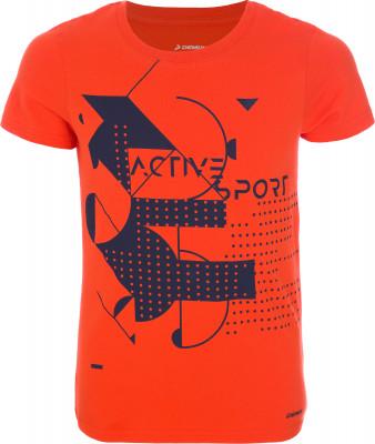 Футболка для мальчиков Demix, размер 170Футболки и майки<br>Удобная хлопковая футболка для мальчиков от demix отлично впишется в гардероб, подобранный в спортивном стиле.