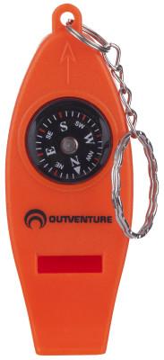 Компас OutventureКомпасы<br>Свисток со встроенным компасом, увеличительным стеклом и термометром.