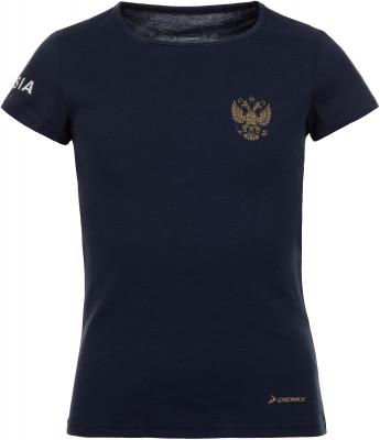 Футболка для девочек Demix, размер 158Футболки и майки<br>Футболка из линии russian team от demix для юных поклонниц спорта и болельщиц российской сборной.