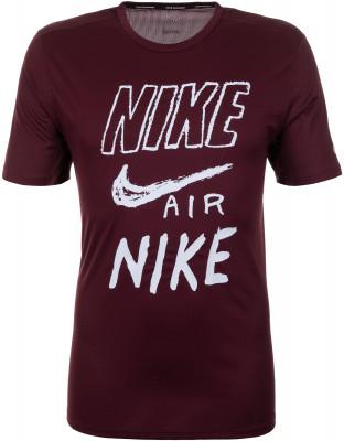 Футболка мужская Nike Breathe, размер 44-46Мужская одежда<br>Беговая футболка с графикой nike breathe dri-fit run для комфорта и вентиляции на протяжении всей дистанции.