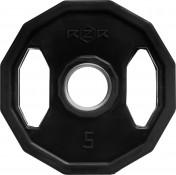 Диск олимпийский обрезиненный с рукоятками RZR, 5 кг