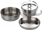 Набор посуды: котелок, сковорода, миска Tatonka CAMP SET LARGE