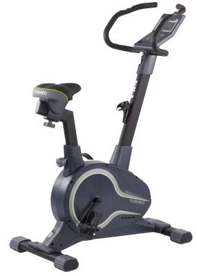 Torneo Jazz B-507GПростой и удобный в использовании велотренажер прослужит максимально долго. Модель подходит для кардиотренировок, направленных на укрепление мышц ног и пресса.<br>Система нагружения: Магнитная; Масса маховика: 10 кг; Регулировка нагрузки: Электронная; Нагрузка: 24 уровня; Измерение пульса: Датчики на поручнях; Питание тренажера: Сеть: 220В; Максимальный вес пользователя: 130 кг; Время тренировки: Есть; Скорость: Есть; Пройденная дистанция: Есть; Уровень нагрузки: Есть; Скорость вращения педалей: Есть; Израсходованные калории: Есть; Температура в помещении: Есть; Пульс: Есть; Хранение данных о пользователях: 4 пользователя; Контроль за верхним пределом пульса: Есть; Целевые тренировки (CountDown): Есть; Дополнительные функции: Фитнес-тест, жироанализатор, более 100 программ случайного выбора; Общее количество тренировочных программ: 23; Пульсозависимые программы: 4; Пользовательские программы: 4; Сиденье: Гелевое; Регулировка руля: Есть; Регулировка сиденья: Вертикальная/Горизонтальная; Подставка для аксессуаров: Держатель для бутылки, подставка для книги; Транспортировочные ролики: Есть; Компенсаторы неровности пола: Есть; Дополнительно: Регулируемый руль с многопозиционными хватами; Размер в рабочем состоянии (дл. х шир. х выс), см: 94 x 51 x 130; Вес, кг: 35; Вид спорта: Кардиотренировки; Технологии: ErgoMove, ErgoPad, EverProof, ExaMotion, InstaRun, SmartStart, Stabilita; Производитель: Torneo; Артикул производителя: B-507G; Срок гарантии: 2 года; Страна производства: Китай; Размер RU: Без размера;