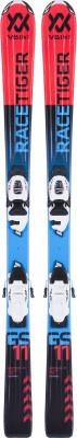 Volkl Racetiger Jr + 4.5 (17/18)Симпатичные и мягкие лыжи начального уровня для маленьких горнолыжников. Для любых склонов универсальная геометрия подойдет для любых типов склонов.<br>Сезон: 2017/2018; Назначение: Универсальные; Уровень подготовки: Начинающий; Крепления в комплекте: Да; Пол: Мужской; Возраст: Дети; Вид спорта: Горные лыжи; Конструкция: Кэп; Геометрия: 93 - 67 - 76 мм; Радиус бокового выреза: 8,8 м; Дуги: Короткие; Прогиб: Смешанный; Тип прогиба: Tip Rocker; Жесткость: Низкая; Сердечник: Composite Core; Материал сердечника: Композит; Система креплений: Флэт; Производитель креплений: Marker; Модель креплений: 4,5; Усилие срабатывания крепления: 0,75-4,5 DIN; Ширина ски-стопа: 85 мм; Конструкция носка: 4-Linkage JR.; Конструкция пятки: Compact JR.; Высота крепления: 21 мм; Регулировка размера крепления: Да; Рекомендуемый вес пользователя: 12-57 кг; Производитель: Volkl; Артикул производителя: 117470K090; Срок гарантии на лыжи: 1 год; Срок гарантии на крепления: 1 год; Размер RU: 90;