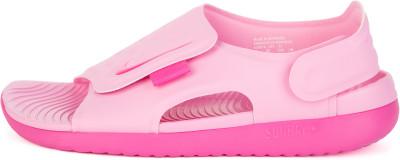 Сандалии для девочек Nike Sunray Adjust 5, размер 30Сандалии <br>Сандалии nike sunray adjust 5 выручают в жаркую погоду. Легкость гибкий пеноматериал гасит ударные нагрузки.