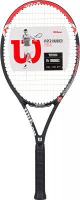 Ракетка для большого тенниса Wilson Hyper Hammer 5 HYBРакетка с карбоновой конструкцией для широкого круга любителей тенниса. Модель рассчитана на защитный стиль игры.<br>Материал ракетки: Графит, Карбон; Вес (без струны), грамм: 240; Размер головы: 710 кв.см; Баланс: 349 мм; Толщина обода: 23 мм; Длина: 27; Струнная формула: 16х20; Стиль игры: Защитный стиль; Технологии: Carbon Fiber Graphite, Hammer; Производитель: Wilson; Артикул производителя: WRT57290U; Срок гарантии: 2 года; Страна производства: Китай; Вид спорта: Теннис; Уровень подготовки: Прогрессирующий; Наличие струны: В комплекте; Наличие чехла: Опционально; Размер RU: Без размера;