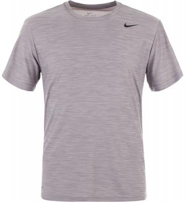 Футболка мужская Nike DryМужская футболка для тренинга от nike. Отведение влаги технология nike dri-fit обеспечивает влагоотвод и комфортный микроклимат.<br>Пол: Мужской; Возраст: Взрослые; Вид спорта: Тренинг; Покрой: Зауженный; Технологии: Nike Dri-FIT; Производитель: Nike; Артикул производителя: 832864-027; Страна производства: Индия; Материалы: 100 % полиэстер; Размер RU: 50-52;