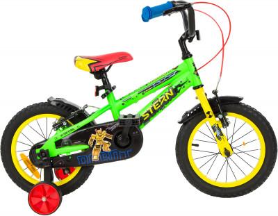 Robot 14 (2019), размер 95-120Велосипеды<br>Улучшенная модель детского велосипеда. Набор красивых и функциональных аксессуаров не оставит юных велосипедистов равнодушными.