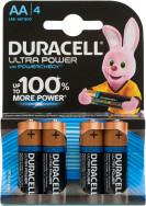 Батарейки щелочные Duracell Ultra Power АА/LR6, 4 шт.