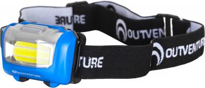 Фонарь налобный OutventureНалобный фонарь мощностью 70 люмен. 3 режима работы: полная мощность, 35 люмен, стробоскоп. Источник питания - 3 батарейки ааа.<br>Вес, кг: 0,05; Размеры (дл х шир х выс), см: 7 х 5 х 4; Материалы: 70 % пластик, 30 % полиэстер; Световой поток (люмен): 70; Производитель: Outventure; Срок гарантии: 1 год; Вид спорта: Кемпинг, Походы; Артикул производителя: EOULG002Z2; Страна производства: Китай; Размер RU: Без размера;