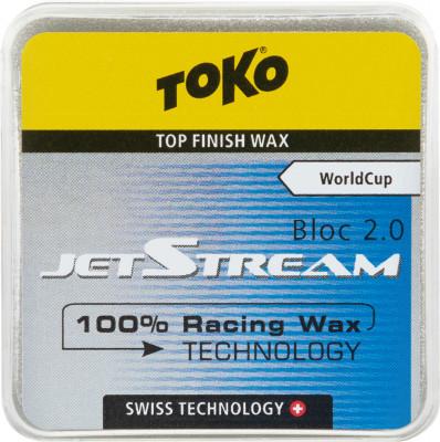 Порошок фторуглеродный для беговых лыж TOKO JetStream Bloc 2.0 blue, размер Без размера