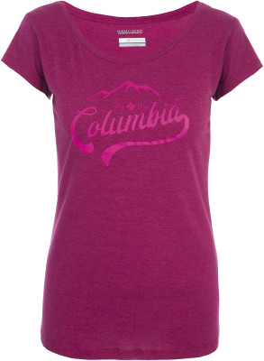 Футболка женская Columbia Outdoor Play Tee, размер 42Футболки<br>Женская футболка с принтом на груди станет отличным выбором для путешествий и активного отдыха.