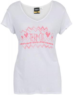 Футболка женская TermitПрактичная футболка от termit станет превосходным выбором для активного отдыха. Свобода движений удобный продуманный крой обеспечивает свободу движений.<br>Пол: Женский; Возраст: Взрослые; Вид спорта: Skate style; Материалы: 97 % вискоза, 3 % полиэстер; Производитель: Termit; Артикул производителя: S17ATC00XL; Страна производства: Китай; Размер RU: 50;
