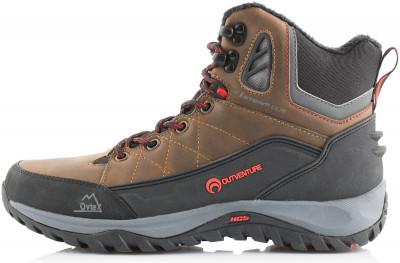 Ботинки утепленные мужские Outventure MatterhornУтепленные мужские ботинки outventure matterhorn подойдут для зимнего туризма. Модель рассчитана на продолжительные походы.<br>Пол: Мужской; Возраст: Взрослые; Вид спорта: Зимний туризм; Средний вес пары: 520 г; Глубина протектора: 5 мм; Мембранная ткань: Да; Вес утеплителя: 200 г/м2; Способ застегивания: Шнуровка; Водоотталкивающая пропитка: Нет; Антибактериальная пропитка: Нет; Светоотражающие детали: Нет; Защита мыска: Да; Усиленный бампер: Да; Анатомическая стелька: Нет; Съемный внутренний сапожок: Нет; Материал верха: 70 % натуральная кожа, 30 % искусственная резина; Материал подкладки: 100 % полиэстер; Материал стельки: Синтетический войлок, фольга, этиленвинилацетат; Материал подошвы: Искусственная резина, этиленвинилацетат; Технологии: Ovtex, Thermolite, Термостелька; Производитель: Outventure; Артикул производителя: OSM428BF42; Страна производства: Китай; Размер RU: 42;